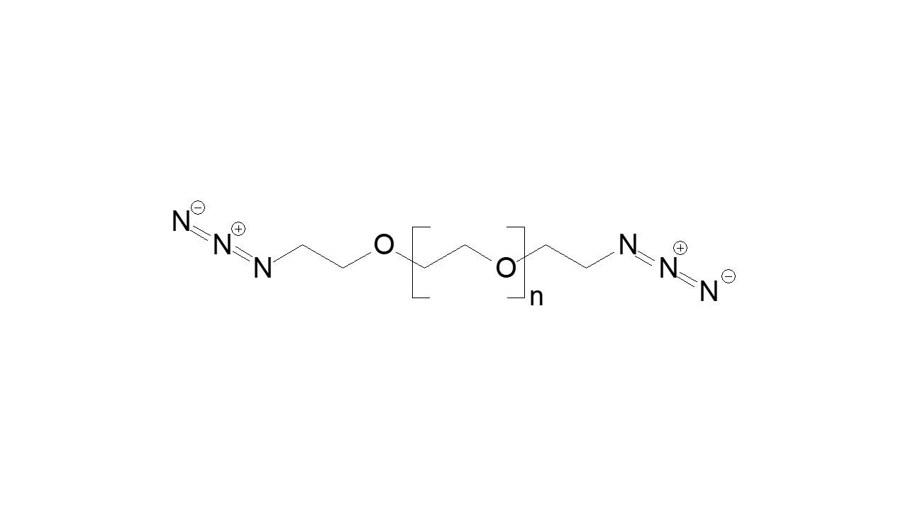 Poly(ethylene glycol), α,ω-bis(azide) thumbnail