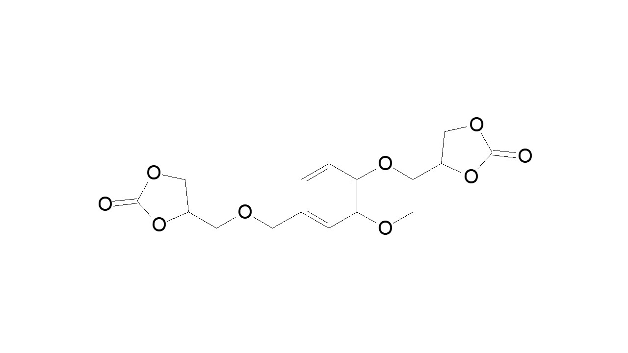Vanillyl alcohol bis(cyclocarbonate) thumbnail